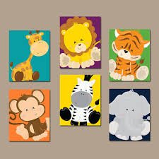 on baby safari nursery wall art with jungle animals wall art jungle animals nursery decor safari