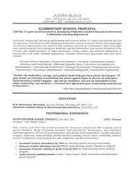 Educational Leadership - Elementary School Principal Resume a.k.a. CV  Curriculum Vitae