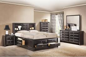 White And Walnut Bedroom Furniture King Size Storage Bed Luka A Kingsize Storage Bed Cheap Bedroom