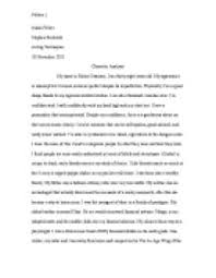 character analysis my is richie swanson i am thirty eight page 1 zoom in
