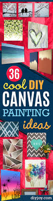 diy canvas painting ideas cool and easy wall art ideas you can make on a