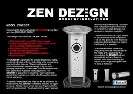 Cool Power Points Zen Dezign Zen2gbt Motorised Power Point