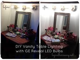 glamorous makeup table light zamp co vanity lighting diy ge reveal led bul