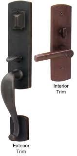 emtek sheridan sandcast bronze entry door handle