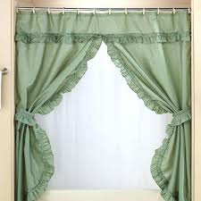 double swag shower curtains with valance view 1 double swag shower curtain target swag style shower