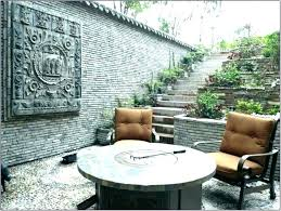 patio wall decor ideas outside designs images back