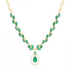 luxurious emerald and diamond necklace effy brasilica k yellow gold emerald and diamond necklace tcw
