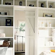 room dividers, pocket door, barn doors, open shelving storage, bedrooms,  white