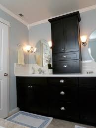 Black And Blue And BEAUTIFUL Bathroom Remodel - Remodeled master bathrooms