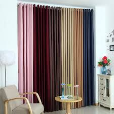 Living Room Curtain Design New Solid Polyester Ready Made Window Shade Blackout Curtains For Living