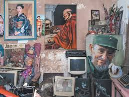 the big change by alma guillermoprieto the new york  a living room in havana a poster of fidel castro at right 2015
