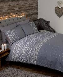 nordic fairisle christmas duvet covers quilt sets navy red grey  ebay