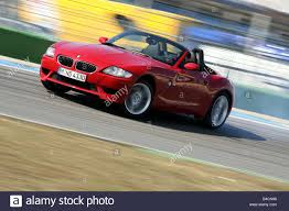 BMW 3 Series bmw z4m roadster : BMW Z4 M Roadster, model year 2006-, red, driving, diagonal from ...