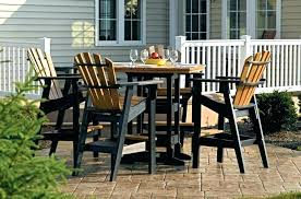 plastic patio furniture sets poly lumber outdoor furniture and resin outdoor dining sets white plastic set