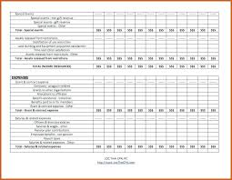 Non Profit Organization Sample Co 8 Budget Template Org And Loss