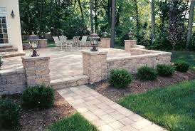 Small Picture The patio design included a raised patio with a custom walkway