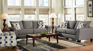 Taupe Living Room Springs Set With Dark Gray Sofa And