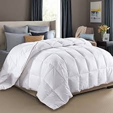 Amazon.com: King Size Duvet Insert White Goose Down Feather ... & King Size Duvet Insert White Goose Down Feather Comforter 100% Cotton Cover  Fluffy Bed Quilt Adamdwight.com
