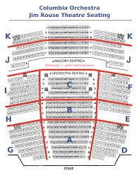 Jim Rouse Theatre Seating Chart Columbia Orchestra