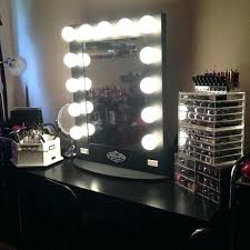 black makeup vanity table set w bench vanities mirror with lights home accessory lighting make