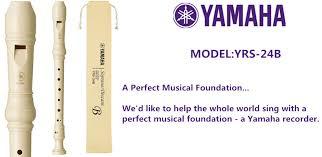 Yamaha Yrs 24b Plastic Soprano Recorder Baroque Fingering 243352