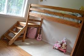 free downloadable bunk bed woodworking plans. camp loft bed with stair, junior height free downloadable bunk woodworking plans h