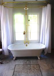 diy clawfoot tub shower. the claw foot tub shower curtain. i love t he double curtain idea! diy clawfoot m