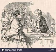 MICHAEL FARADAY (1791-1867), científico inglés dando una de sus  conferencias en la Royal Fotografía de stock - Alamy