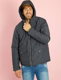 Quilted hooded jacket Men size s to xxl - grey - Kiabi - 45,00EUR & ... Quilted hooded jacket view 7 ... Adamdwight.com