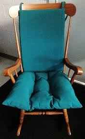 details about teal indoor or outdoor rocking chair or glider chair cushion set patio nursery
