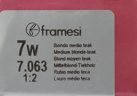 Buy Framesi Fram Color 2001 7 W Medium Blonde Hair Color 2