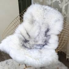 double pelt genuine sheepskin rugs real fur long wool mats carpets soft lambskin