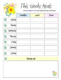 Free Printable Meal Plan Template Free Printable Menu Planners Meal Planning Meal Plan