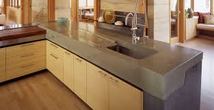 meteor vineyard kitchen concrete countertop with integral drainboard by fu tung cheng cheng design