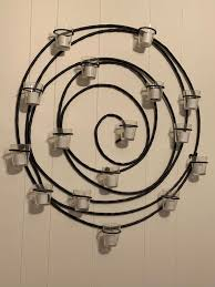 pottery barn wall candle holder spiral