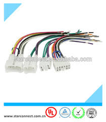 auto audio iso connector wire harness with 6 pin 10 pin connector 6 pin wiring harness diagram at 6 Pin Wiring Harness