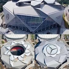 Mercedes benz stadium section 326 seat views seatgeek. Aerial View Of The Mercedes Benz Stadium In Atlanta Ga Usa Interestingasfuck