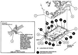 solved ford taurus engine diagram fixya oil pan bolt tightening sequence 2000 04 3 0l vin s engine