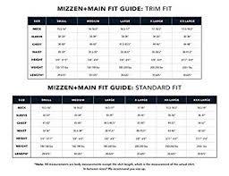 Mizzen And Main Size Chart Mizzen Main Spinnaker Mens Slim Fit Button Down Dress Shirt