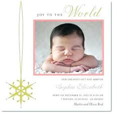 Christmas Birth Announcement Ideas Baby Christmas Card Ideas Card Baby Announcements Birth Announcement