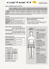 Carhartt Shoe Size Chart Size Chart