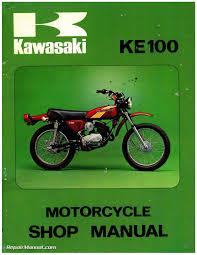 kawasaki g ke motorcycle service manual  1971 1981 kawasaki g5 ke100 motorcycle service manual page 1