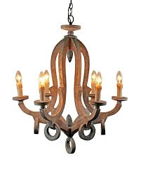 parrot uncle rustic 6 light wooden candle style chandelier pendant light antique wood com
