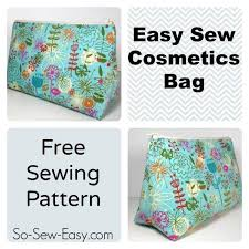 Free Sewing Patterns For Beginners Enchanting Easy Cosmetics Bag Craftsy