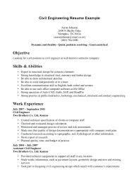 57 Examples Civil Engineer Resume Objective Statements About Simple