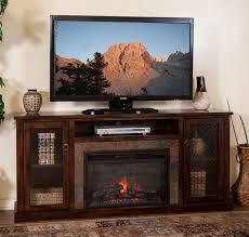 sd 3488dc 70r 70 santa fe rustic birch fireplace tv stand