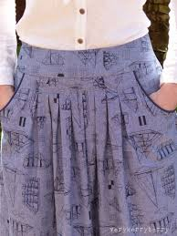 Skirt Patterns With Pockets Magnificent Verykerryberry Grains De Couture Opale Maxi Jupe Skirt