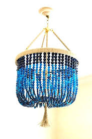 blue beaded chandelier beaded chandeliers turquoise blue beaded chandelier