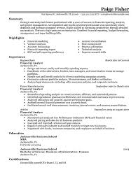 Best Solutions of Sample Resume Of Financial Analyst About Example