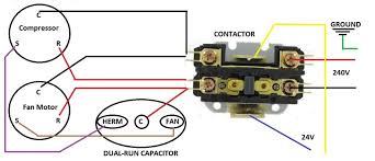 pump contactor wiring diagram hvac compressor wiring diagram hvac image wiring wiring diagram for dual capacitor the wiring diagram on